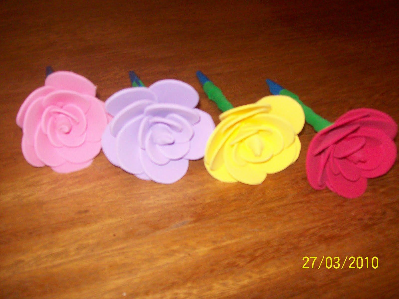 Ca As Decorada De Rosas De E V A Uma Otima Ideia De Lembrancinha