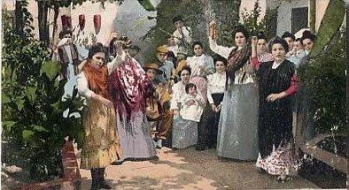 EL MANTÓN DE MANILA Corral+fiesta+1902