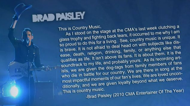 brad paisley this is country music album art. Brad Paisley has released his
