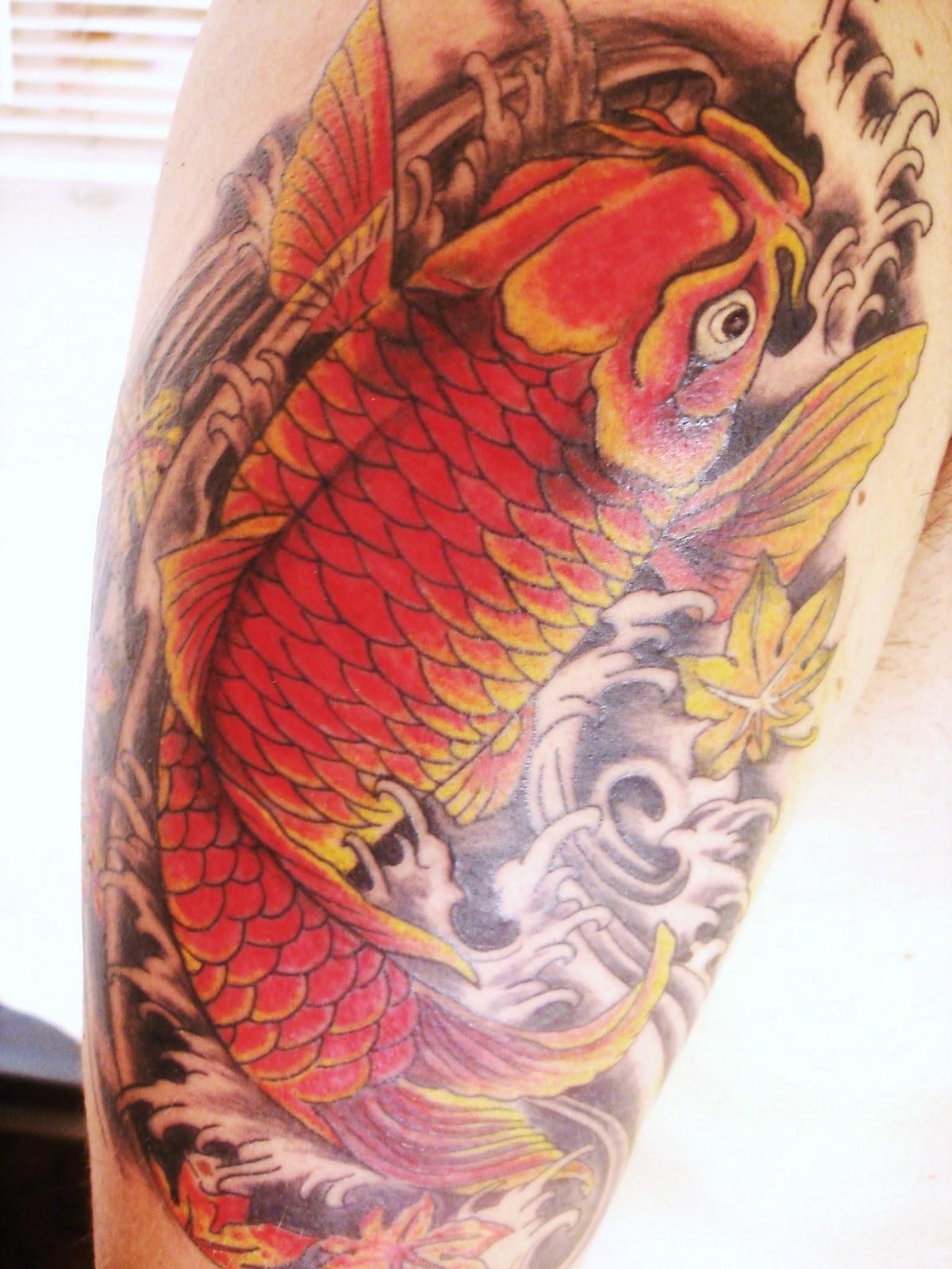 Татуировки карп кои фото