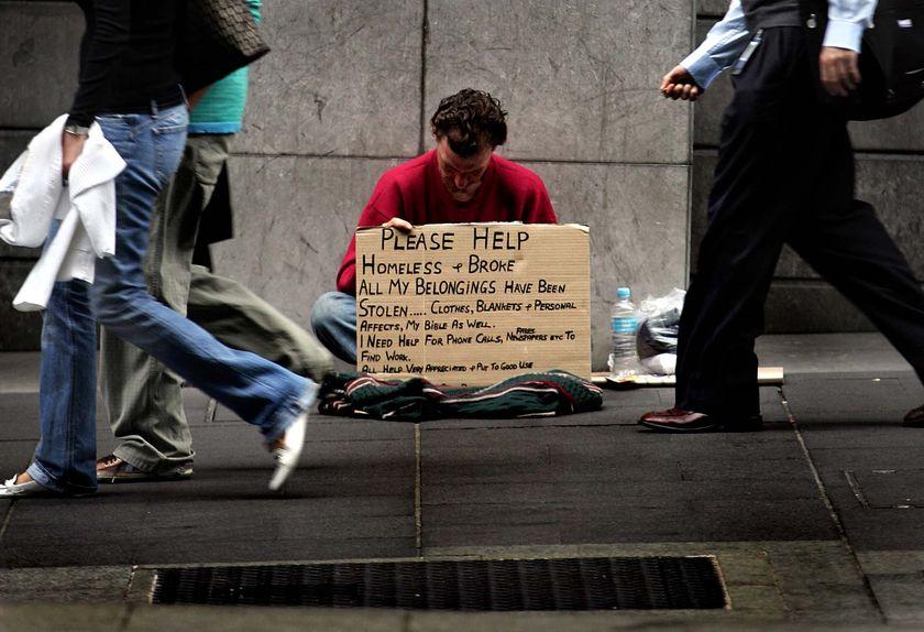 Three main reasons behind poverty/ being homeless.?