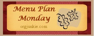 Menu Plan Monday – October 20