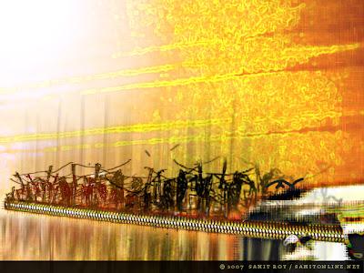 Exodus - Digital Art by Samit Roy