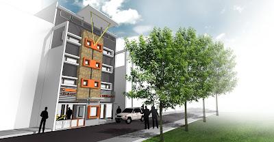 Kebun Rumah Minimalis on Dengan Design Urban Minimalis  Rumah Kost Kebun Kembang Bandung