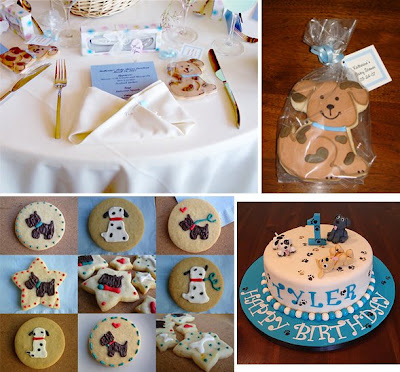Baby's first birthday party ago looking for ideas for her son's puppy-themed