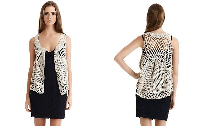 Free Crochet Pattern Lace Vest : FREE CROCHETED LACE VEST PATTERNS Patterns