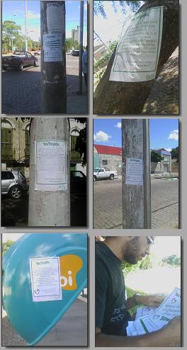 declaração de amor cartazes pela cidade