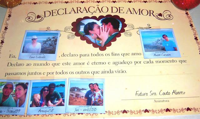 declaração de amor para o noivo