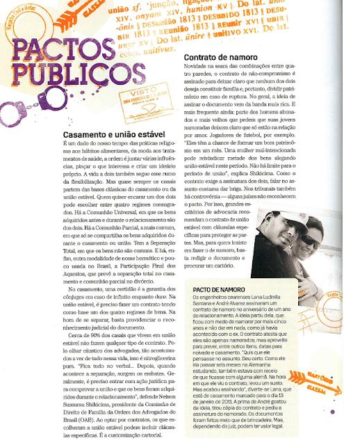 revista lola magazine novembro 2010  contrato de namoro