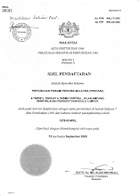 SIJIL PENDAFTARAN PERKASA