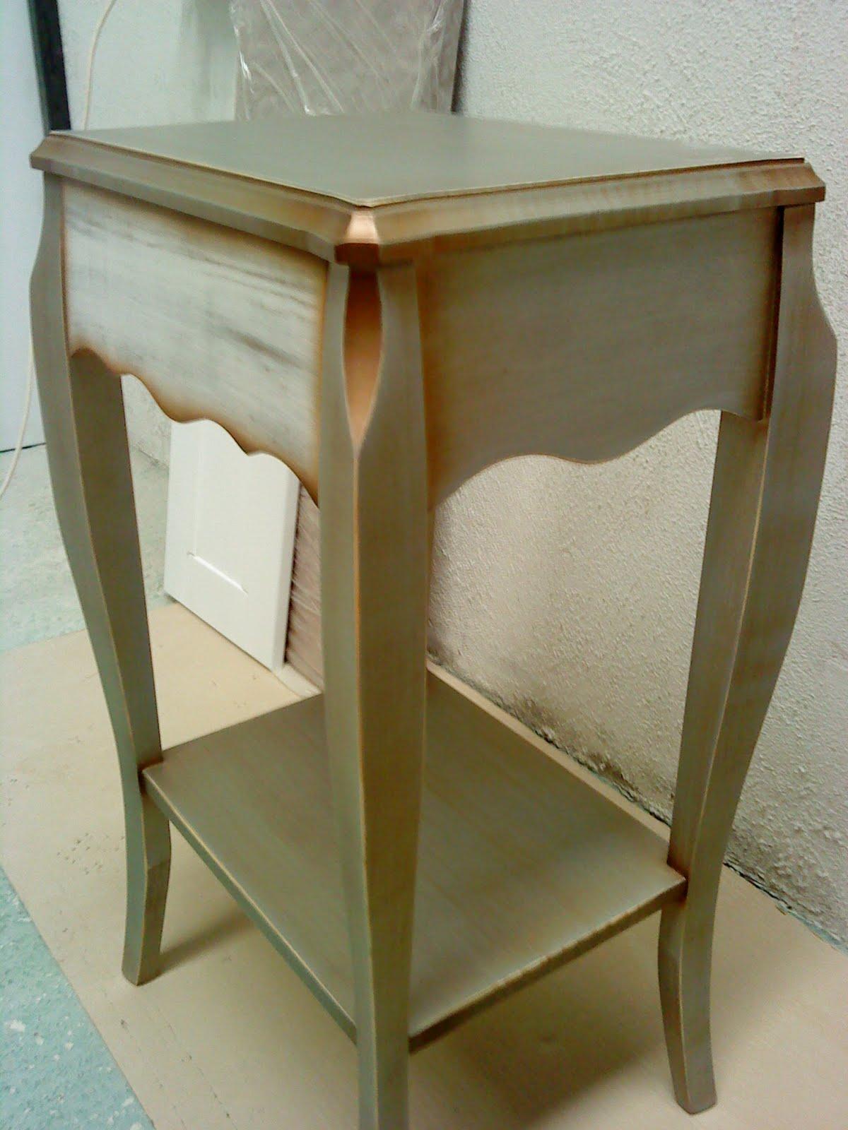 El rincon del mueble plata y oro sabor antiguo - Muebles pintados en plata ...