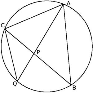 Triángulo inscrito