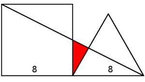 Triángulo sombreado