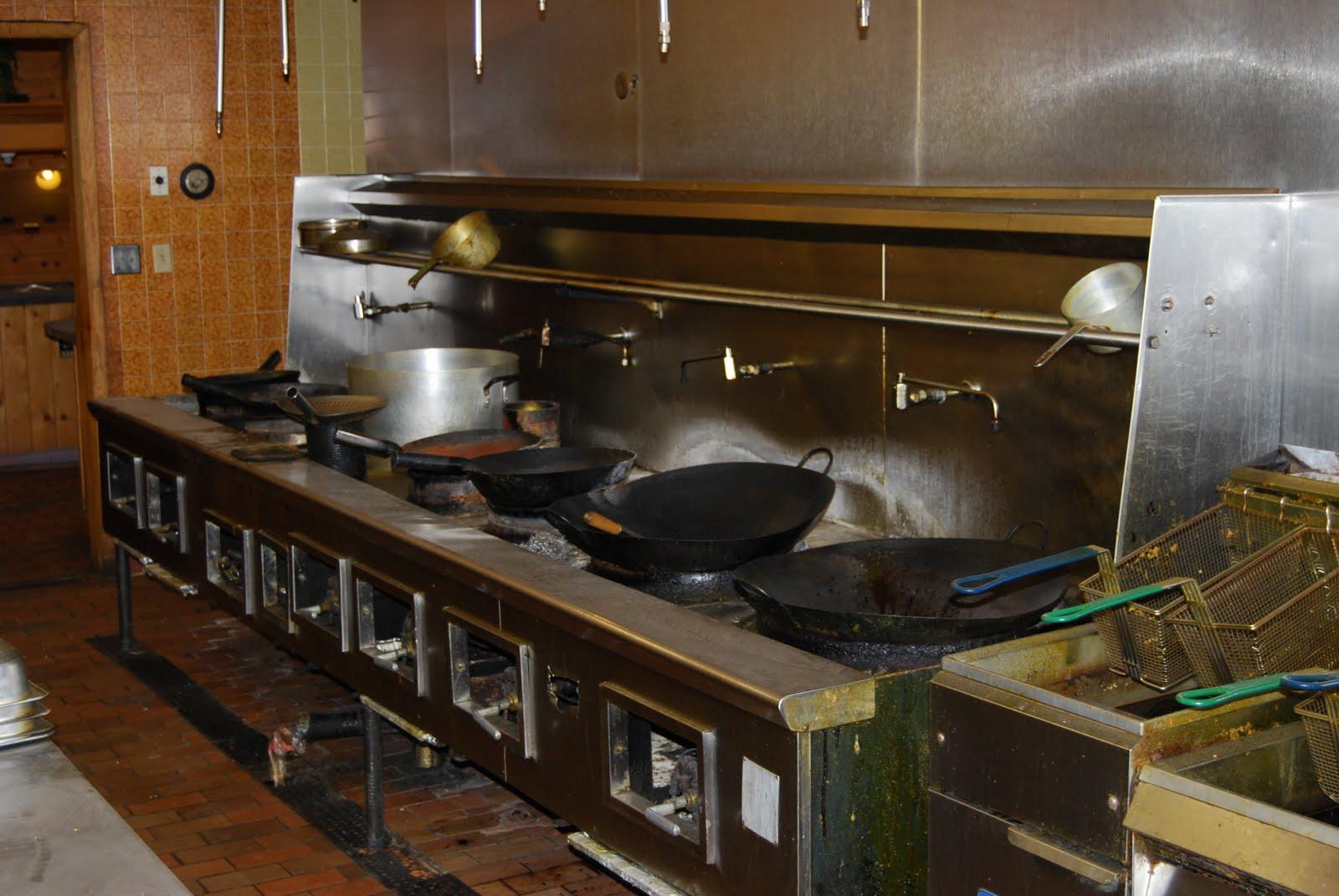 Full Restaurant Kitchen Sale: Stainless Steel 7 Burner Gas Wok ...