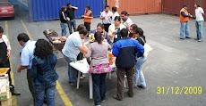 Convivencia de fin de año 2009 en planta San Antonio