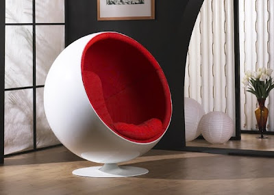 Modern Furniture Brand New Modern Eero Aarnio Ball Chair Red/White