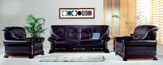 The Living Room - Designer Living Room Sets - Black Contemporary 3 Piece Living Room Set