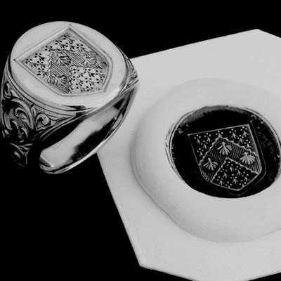 Signet Ring Wax Sealed Letter