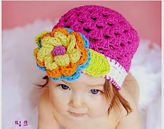 Crochet Flower For Hat : BaBy MaLL: Crochet Flower Hat
