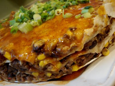 Tortilla And Black Bean Pie Recipe | Mexican Food Recipes