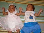 Meus Gemeos Miguel e Marcela