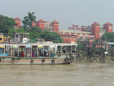 Howrah station seen from the river