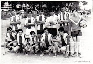 Equipo de futbol de Candelario verano de 1972