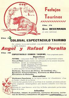 programa de fiestas 1974taurinos  de Candelario Salamanca
