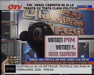 Votati PIN - Ursul Carpatin - OTV - Dan Diaconecu Direct - 1