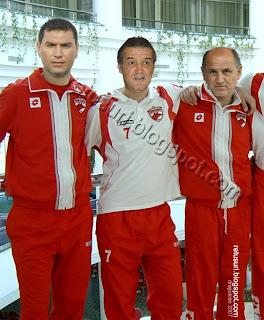 Echipa Dinamo - Gigi Becali, Cristi Borcea, Gheorghe Copos