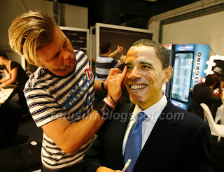 Barak Obama la machiaj