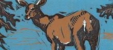 """Deer"" / linocut"