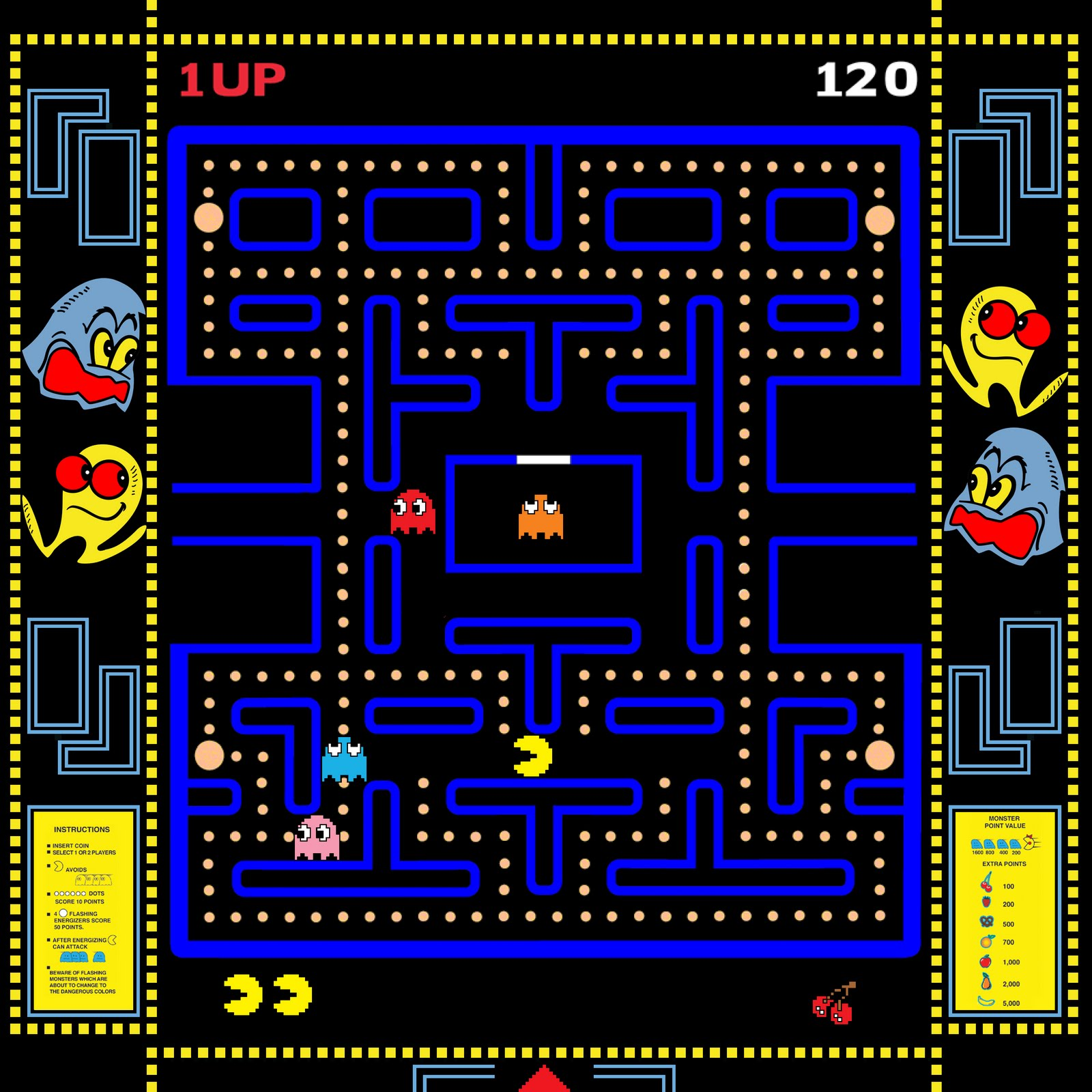 It is an image of Refreshing Pac Man Maze Printable