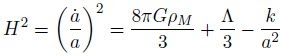 cosmological constant, Friedman equation