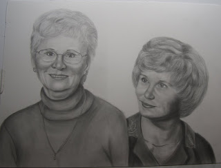 Graphite Pencil Portrait Mother's Gift Commission