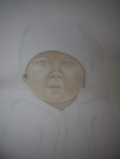 Watercolor Baby Portrait Commission