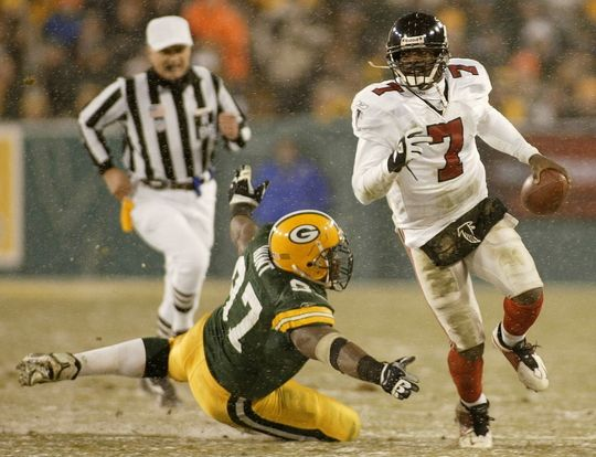 Image result for vick vs packers playoffs