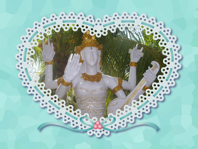 SACRED SWEET ANGEL ENCLOSED IN A BLUE AND WHITE LACE HEART--WHITE AND GOLD