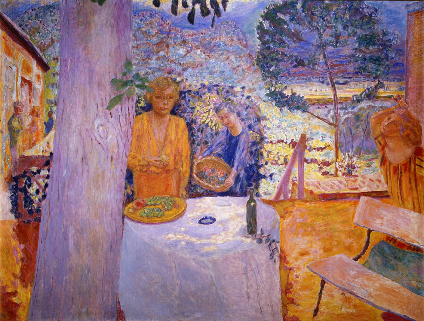 Pierre bonnard the terrace at vernonnet 1939 for At the terrace