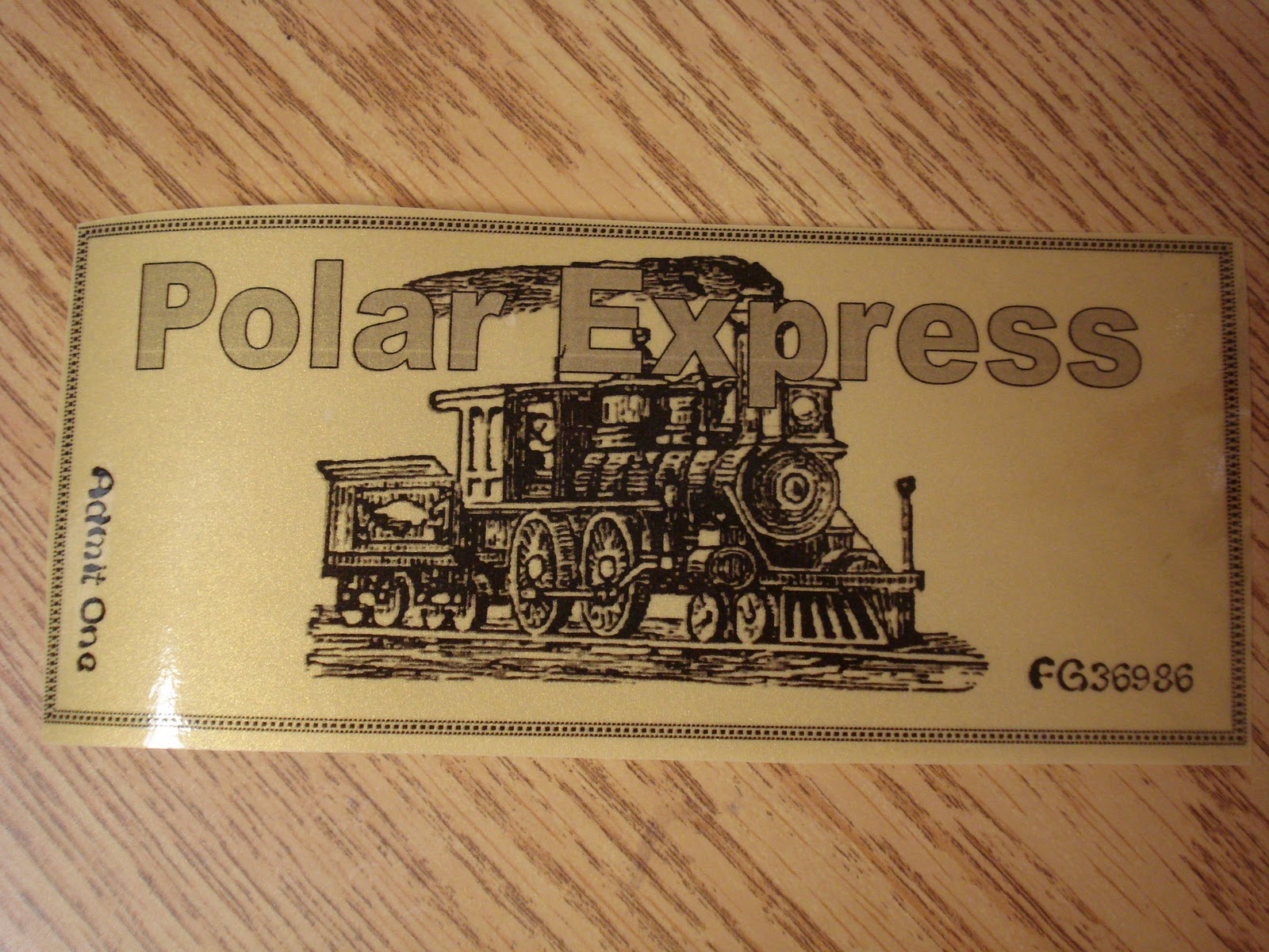 Polar express golden ticket new calendar template site for Polar express golden ticket template