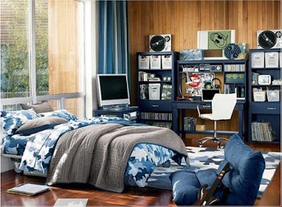 Army Teen Room Design for Boys