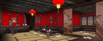 Hosoi Mura, Sake house interior