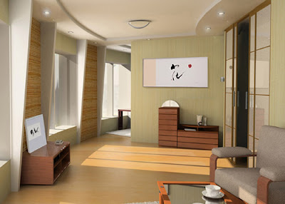 "Japanese style Living Room""Carre Moji Hana"""