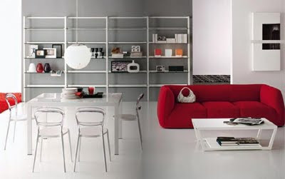 The Living Room Interior  Modern Design 2009  by Calligaris