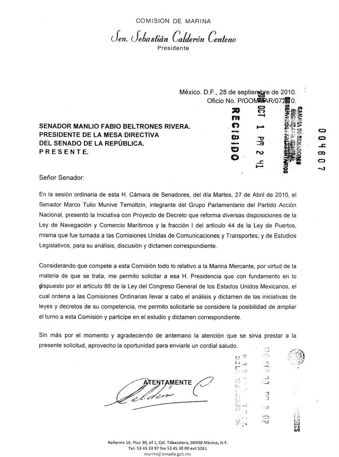 Marinos Mercantes Mexicanos: octubre 2010