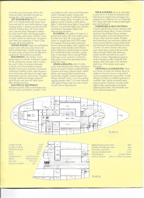 Fales Explorer Sailboat Brochure Page 4