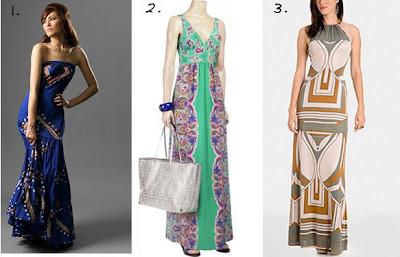 Tibi colorblock maxi dress