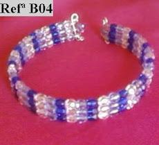 Refª B04 NOVO PREÇO: 4,50* Pulseira tons azul com facetes cristal