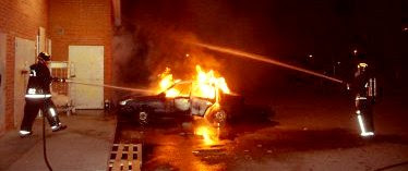 Uppsala car fire