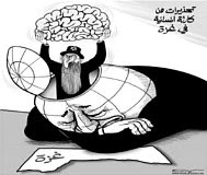 Cartoon, Al-Watan: a Jew removes the world's brain